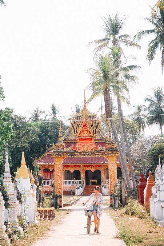 Tempel erkunden auf Don Khone im Süden von Laos - 4.000 Islands