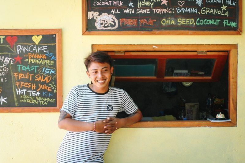 Nachhaltig reisen: Putu vom Penida Espresso auf Nusa Penida Bali