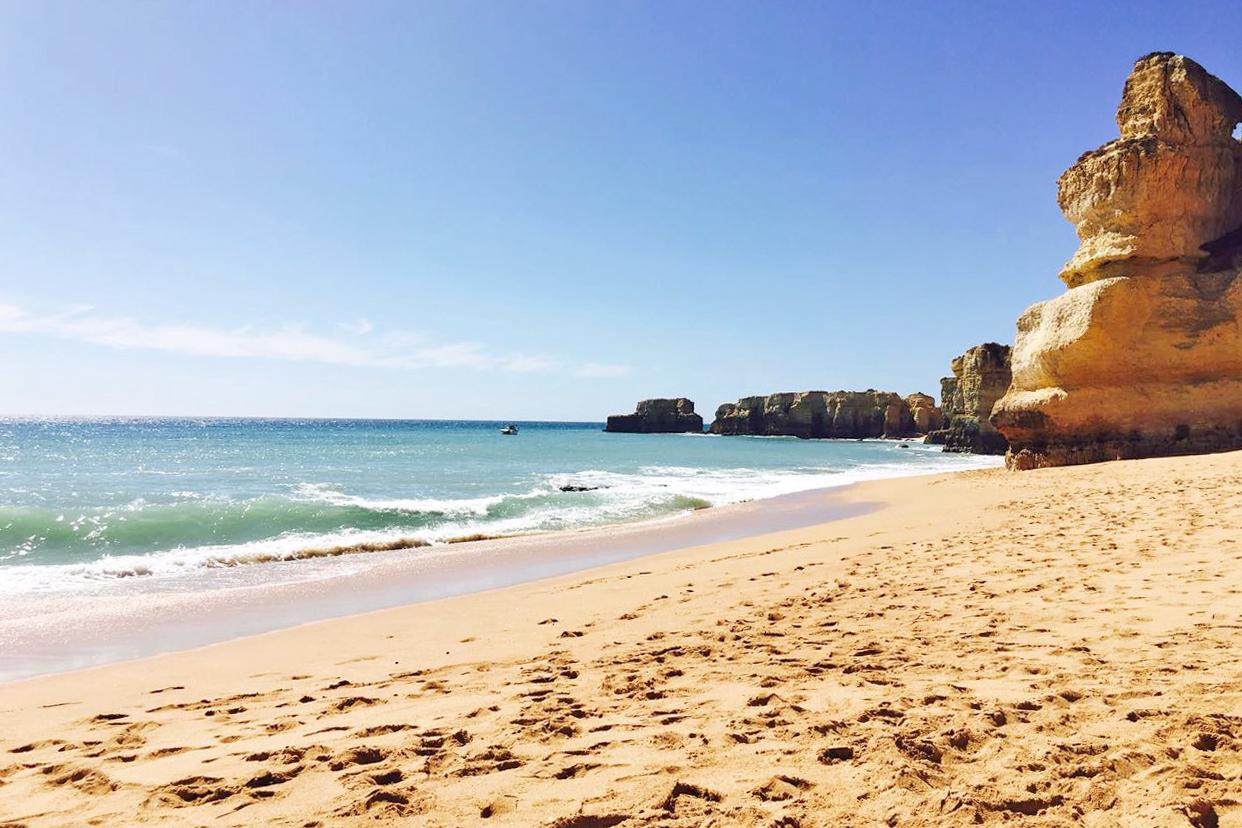 Portugal Route Algarve - schönster Strand Praia di Coelha bei Albufeira