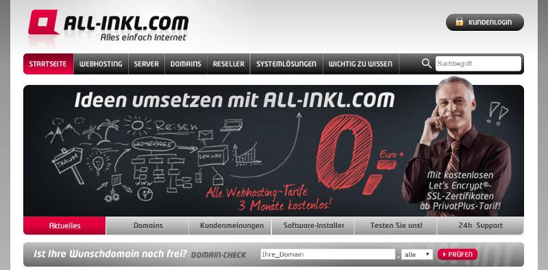Eigenen Reiseblog erstellen - Domain sichern mit Hostinganbieter All inkl