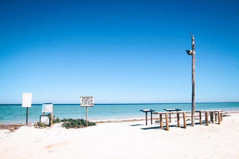 Nanga Bay - schöner Strand mit Campsite an der Shark Bay - Westaustralien Norden Highlight