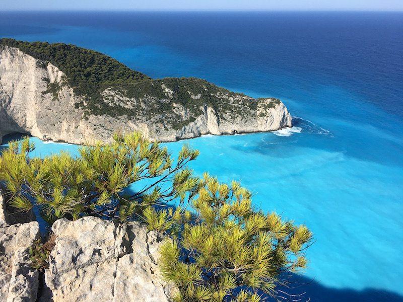 Schönste Orte Zakynthos - Kein Geheimtipp aber lohnenswert ist der Ausblick beim Shipwreck