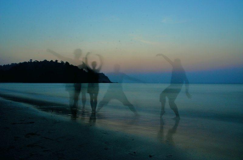 Geistereffekt als Tipps zum Fotografieren vom Sonnenuntergang