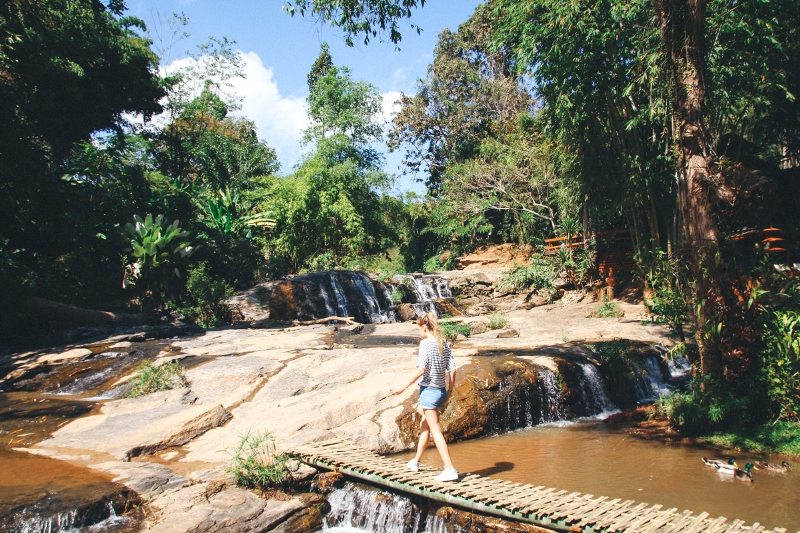 Chiang Mai und Umgebung Backpacking Tipp Wasserfall und Mae Rim