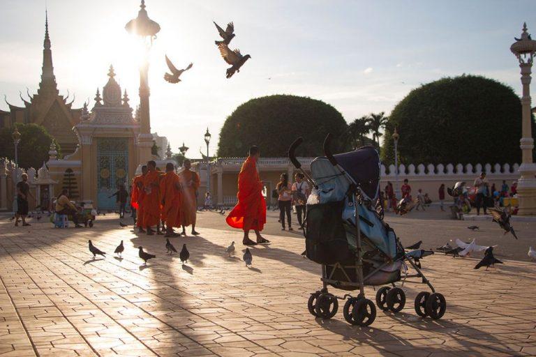 Kambodscha mit Baby