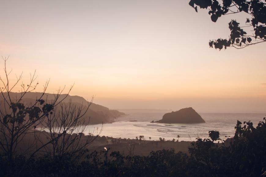 Lombok Kuta Unterkunft - Tipp und Highlight mit Blick über die Bucht von Are Guling
