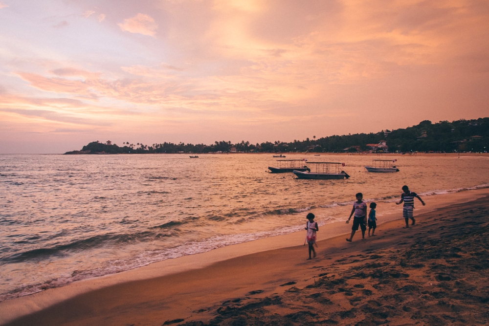 Sonnenuntergang in Unawatuna - Tipp für Sri Lanka Backpacking Rundreise
