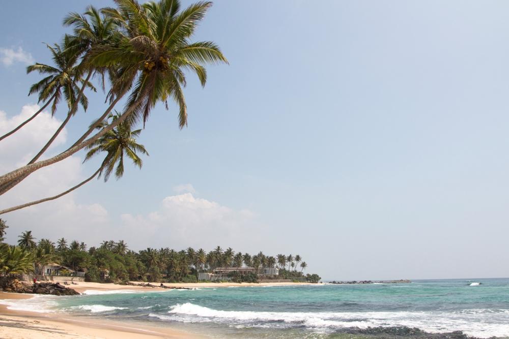 Sri Lanka Backpacking Route - schönste Strände im Süden bei Unawatuna am Dalawella Beach