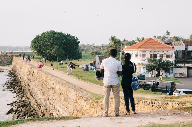 Sri Lanka Backpacking Rundreise Tipp: Ausblick vom Fort in Galle