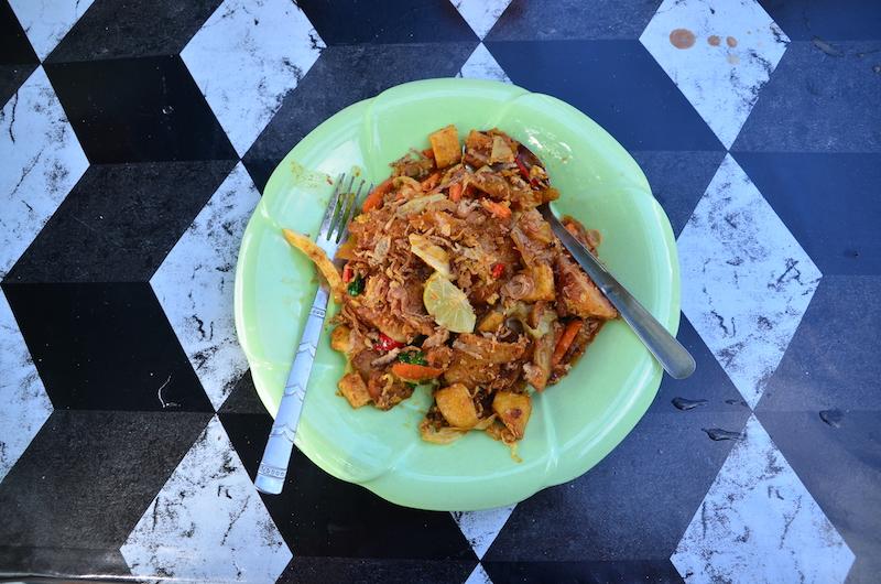 Traditionelles Essen auf der Insel Pangkor