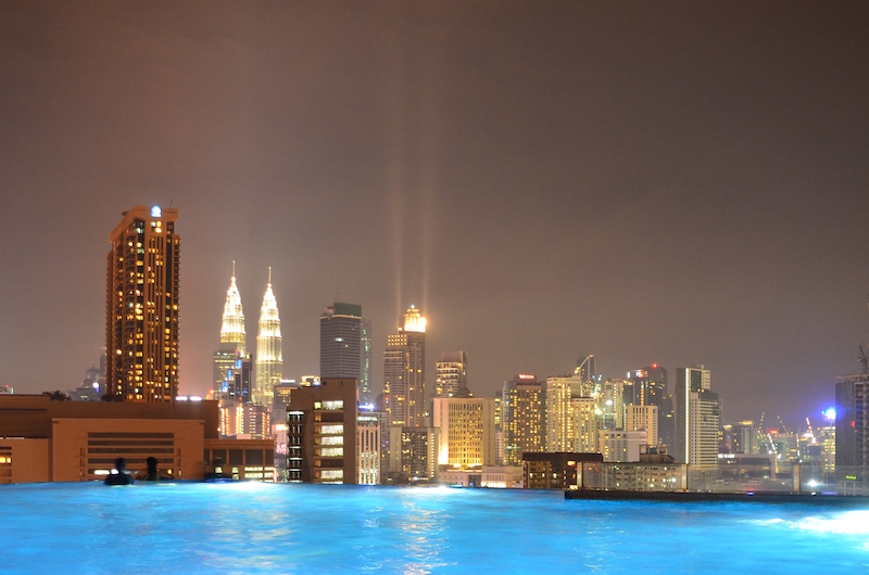 Günstiges Hotel mit Infinity Pool in Kuala Lumpur
