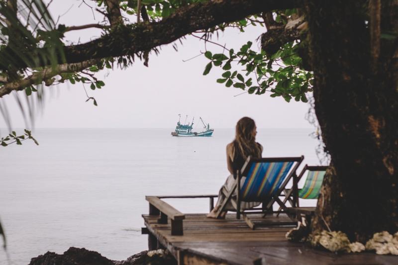 Nachdenklich auf der Insel Koh Mak in Thailand