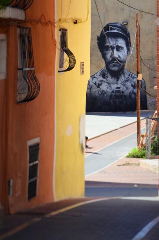 Streetart auch hier zu entdecken in Villajoyosa in Spanien