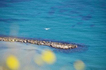 Costa Blanca Tipps: Aussicht auf den Strand del Postiguet von Alicante von der Santa Barbara Burg