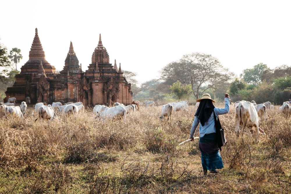 Bagan Pagoden Myanmar Backpacking Route