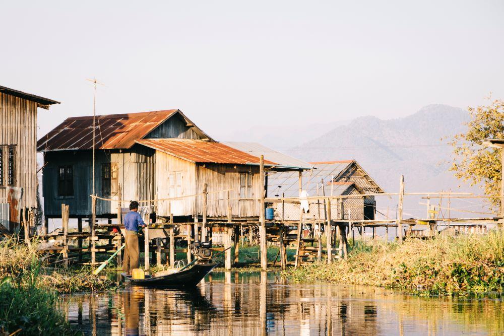 Unser Haus auf dem Inle See - Insidertipp auf der Myanmar Backpacking Route