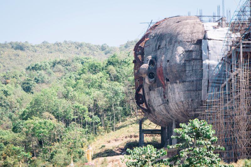 Der liegende Buddha war eins unserer Highlights in Mawlamyaing und auf unserer Myanmar Backpacking Route