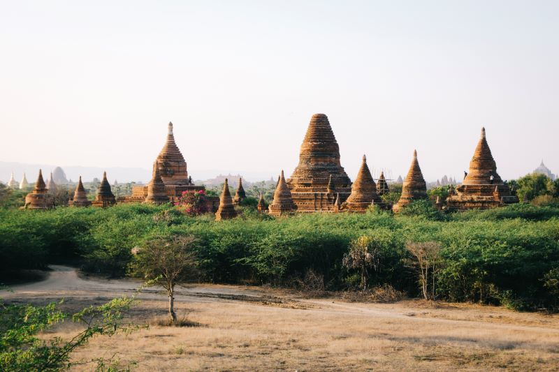 Pagoden in Bagan auf der Myanmar Backpacking Route