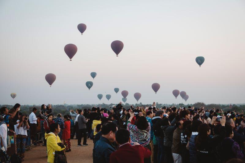 Sonnenaufgang in Bagan in Myanmar - kein Geheimtipp