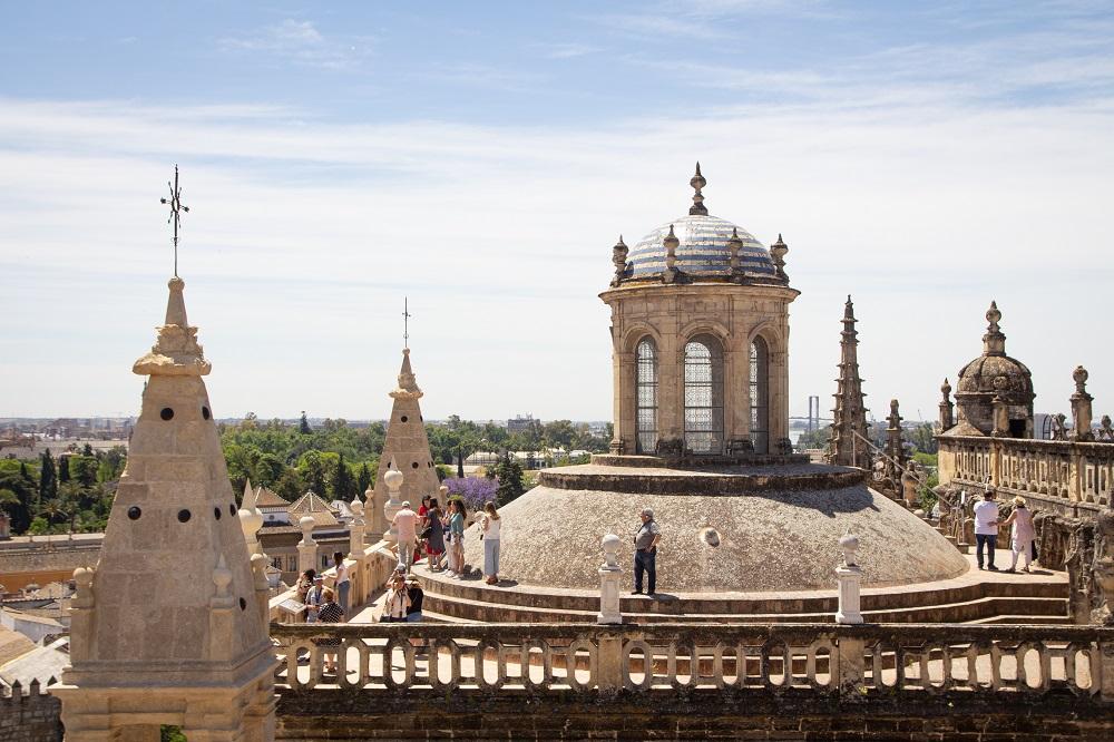 Sevilla Reisebericht Ausblick von der Kathedrale