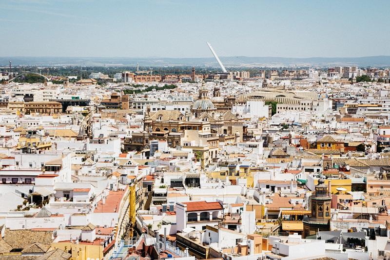 Sevilla von oben - Ausblick von der Kathedrale