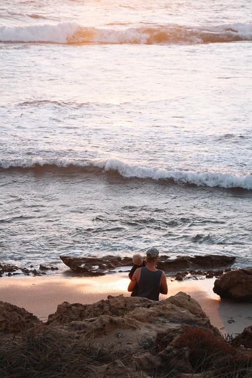 Sonnenuntergang am Strand von Kalbarri in Westaustralien