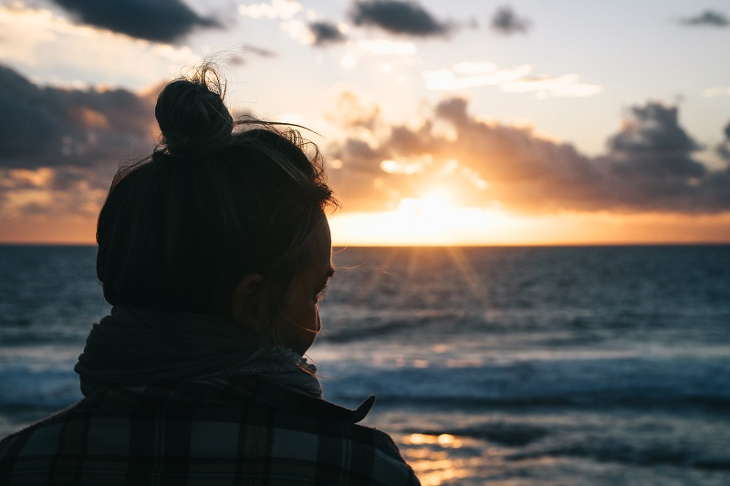 Sonnenuntergang am Strand von Kalbarri in Australien