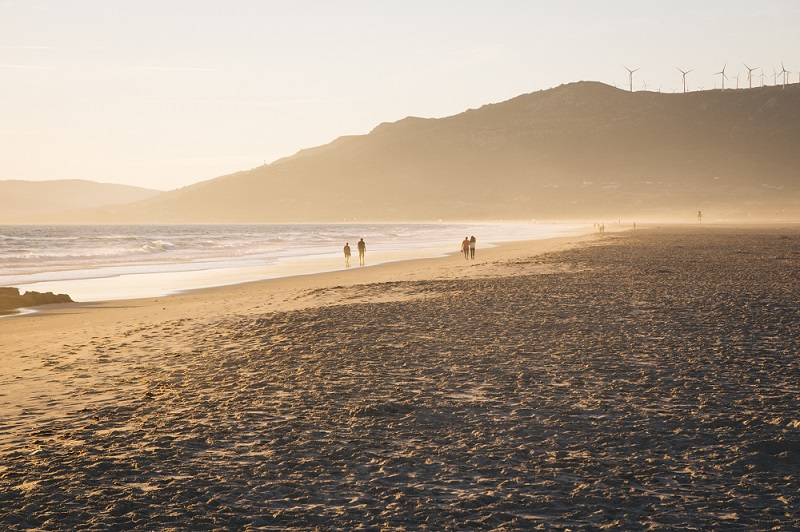 Tarifa was machen - ab an den Strand zum Sonnenuntergang in Andalusien