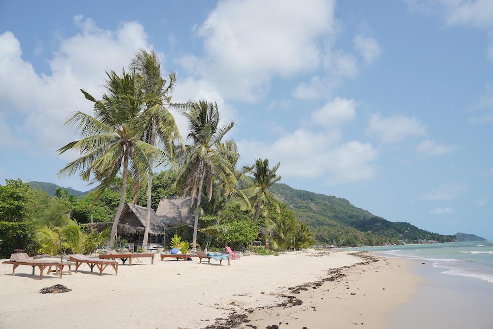 Schönster Strand auf Koh Phangan im Süden der Insel am Baan Tai Beach