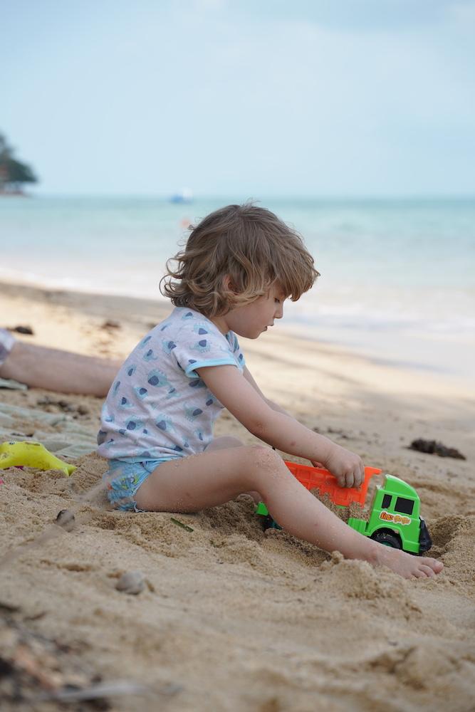 Erste Station meiner Thailand Reise mit Kind mit Strandurlaub am Golf von Thailand